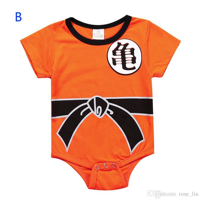 4 Estilo Bebê INS Dragonball Z Dragon Ball Macacão Meninos meninas Cosplay dos desenhos animados de Algodão de manga Comprida mangas curtas macacão roupas do bebê 0-3year B