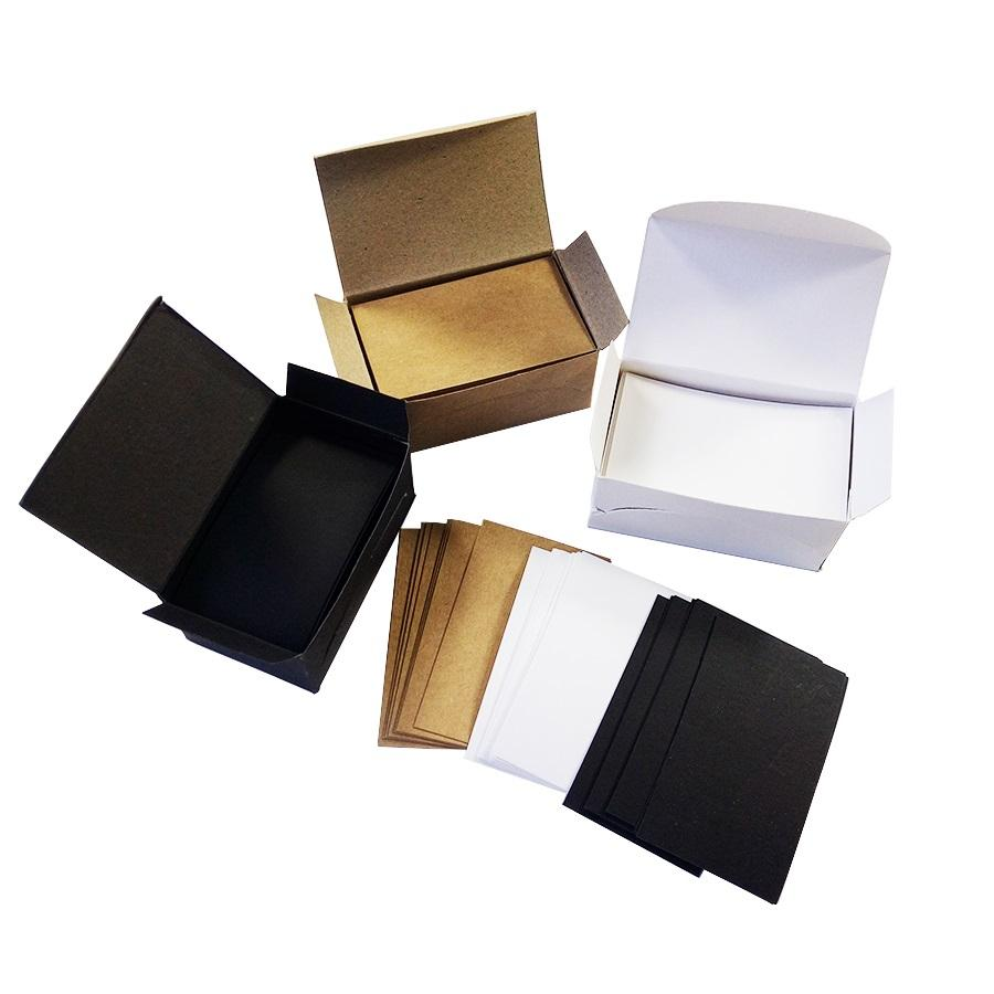 White Black Kraft Paper Card Message Memo Wedding Party Gift Thank
