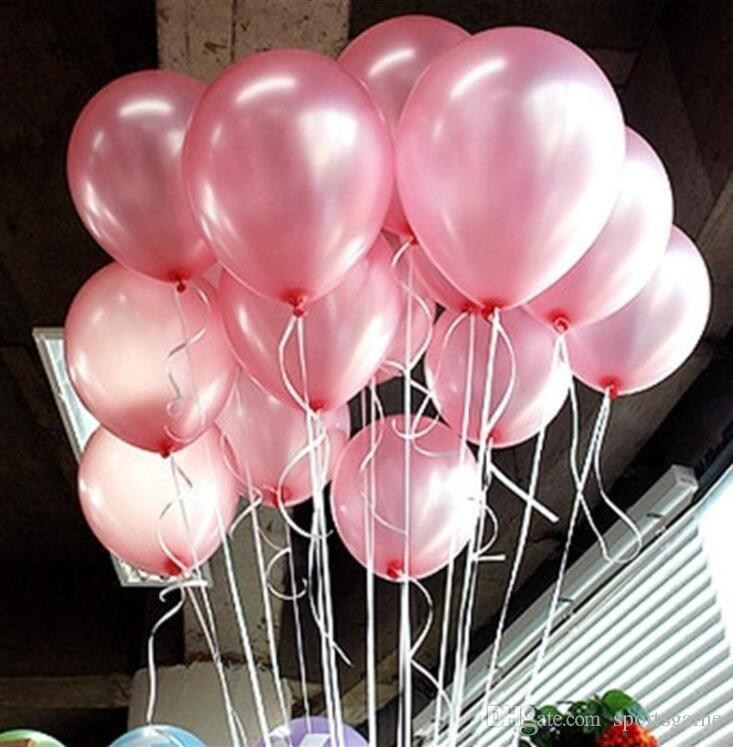 15g Pink Pearl Latex Balloon Inflatable Wedding Decorations Air Ball Happy Birthday Party Supplies Balloons 30th Ballons Buying Helium From