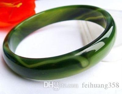 Toptan Ucuz Yeşil Bantlı Akik Bileklik Bileklik 66mm iç çapı ZY8-2
