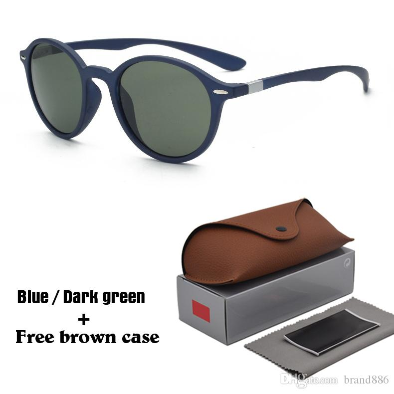a90d17a7e8 Brand Designer Round Sunglasses Men Women Driving Glasses UV400 Protection  Vintage Sun Glasses Retro Eyewear And Free Brown Case Sunglasses Brands Best  ...