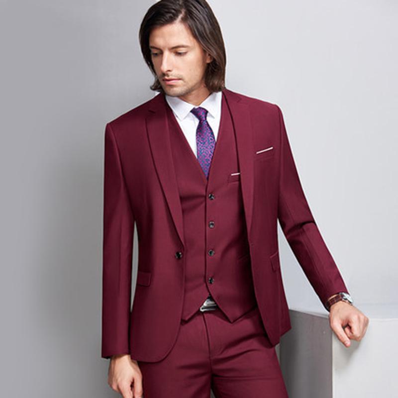 Online Cheap Hot Sale Fashion Men Suit Groomsman Suits Wedding Suit ...