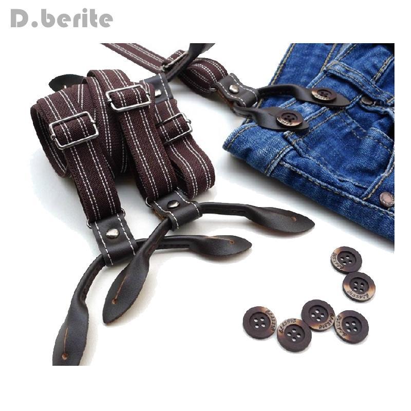2c7f33afe Men S Casual Suspenders Unisex Adjustable 2cm Width Adult Belts Strap  Striped Six Button Holes Suspender Braces BDXJ216 Suspender Skirt Red  Suspenders From ...