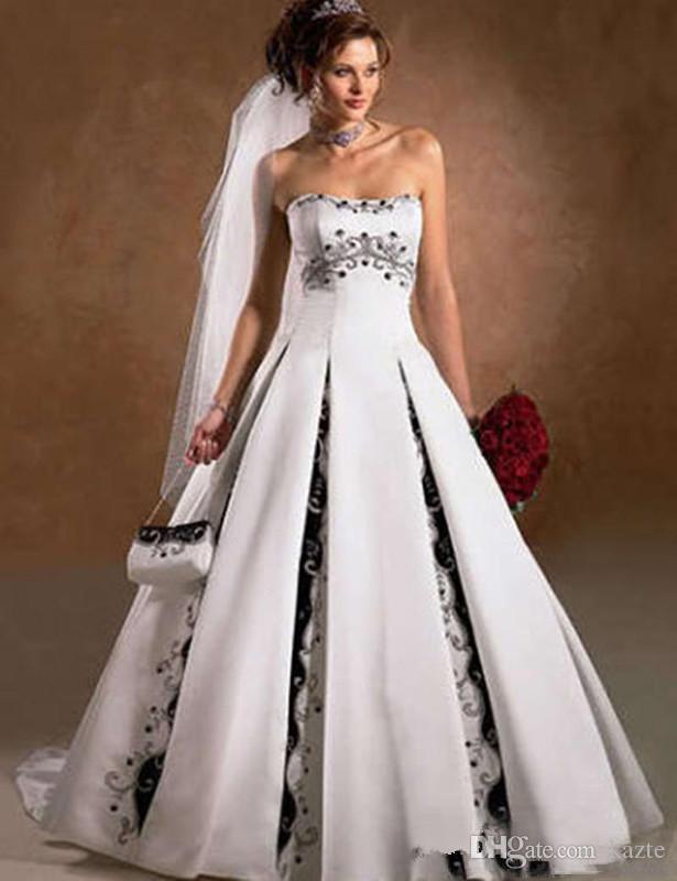 siempre popular Tienda nuevo diseño Vestidos novia en blanco y negro – Las mejores modelos de vestidos ...