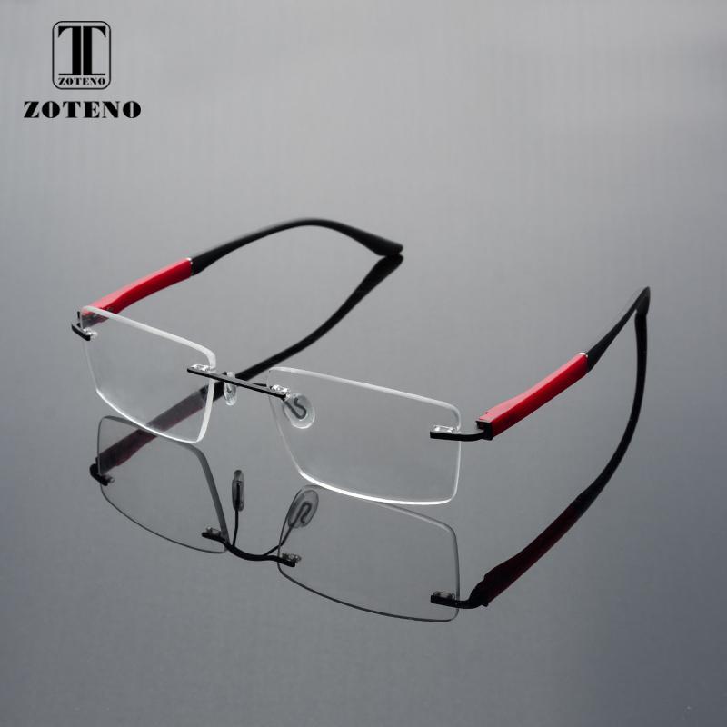 b58c1af90b6 Rimless Men Eyeglasses Frame Fashion Brand Square Designer Myopia Computer  Clear Optical Prescription Eyewear Frames  88012 UK 2019 From Xiacao