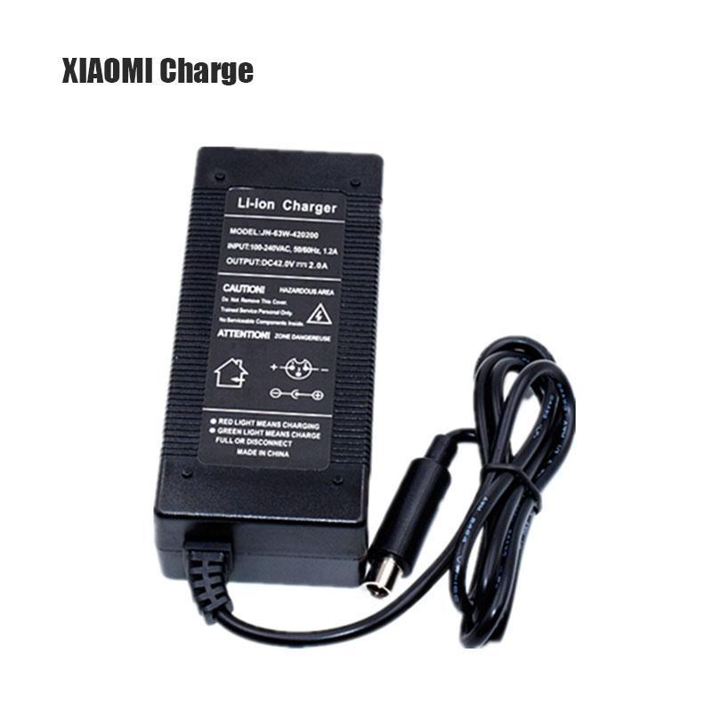 2fefcbb27fd Xiaomi M365 Skateboard eléctrico 36 V Cargador Adaptador de corriente  Scooter Cargador de batería de litio 42V2A Accesorios Scooter eléctrico