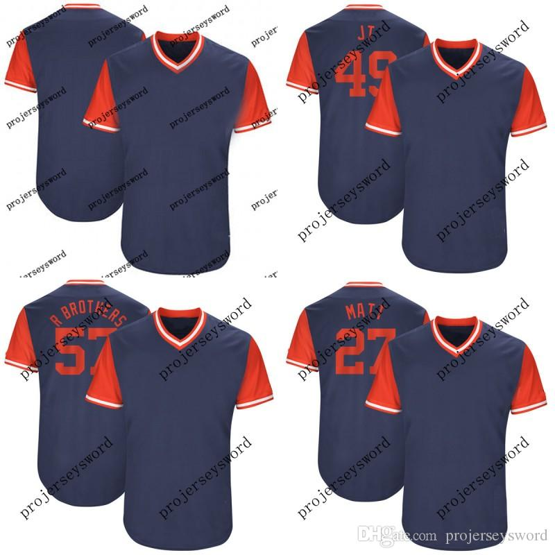 2019 Atlanta 27 Matt Kemp Matt 30 Jason Motte JMotte 45 Matt Wisler Wisler  58 Luke Jackson Jackson 2017 Players  Weekend Baseball Jerseys From ... c4ce5b232e0