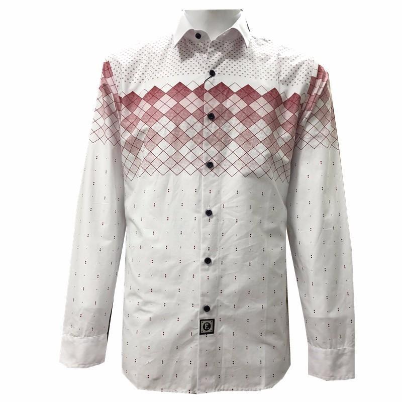 802d780efbd7d Acheter Faconnable De Luxe Haute Qualité 2017 Nouvelle Impression Chemise  Hommes Robe Chemises À Manches Longues Mode Eden Park Hommes Coton Chemises  202 De ...