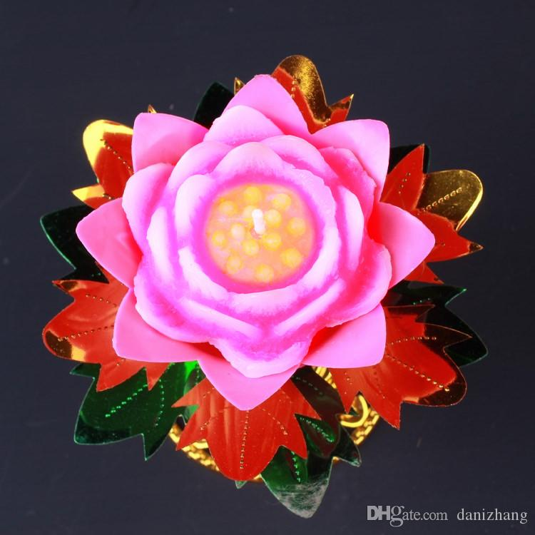 Buddha supplies 11x11cm flower candle red lotus light food grade buddha supplies 11x11cm flower candle red lotus light food grade butter lamp 3 hours combustion candle wick candle wicks from danizhang 885 dhgate mightylinksfo