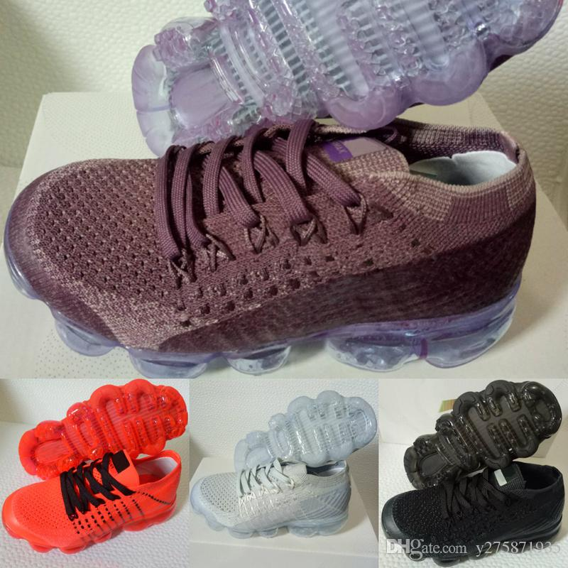 2018 Vapormax Children Shoes Skate Boys Girls Running Shoes Kids Shoes Kid Sports Sneakers Size EUR 28-35