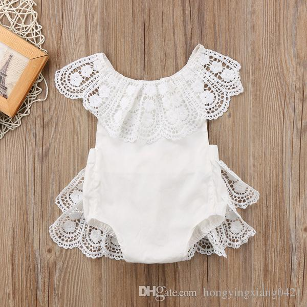 Lovely Newborn Toddler Baby Girl Clothes Lace Floral Romper Bodysuit Outfits