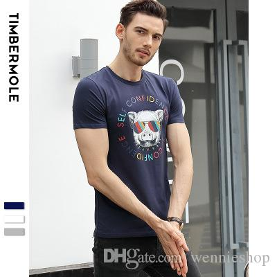 2018 New Spring And Summer Cotton Short-sleeved Mens T-shirt Fashion ... 3cf8a1c0d