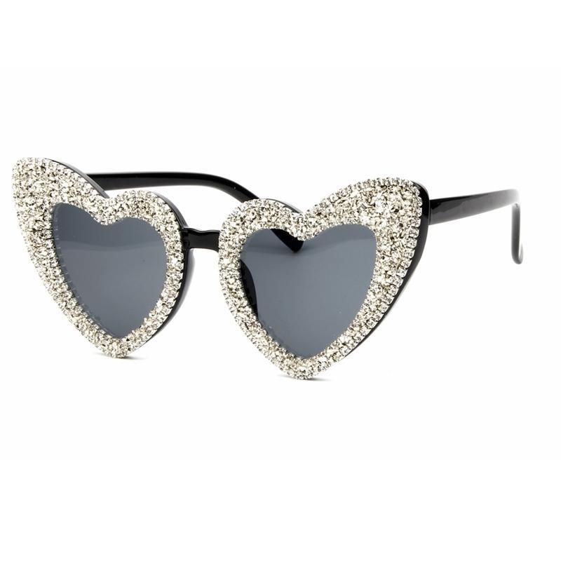 5c7b6e431c 2018 Sunglasses Women Gold Silver Gravel Brand Sunglasses For Men Luxury  Retro Love Heart Shape Summer Female Shades D18102406 Retro Sunglasses  Baseball ...