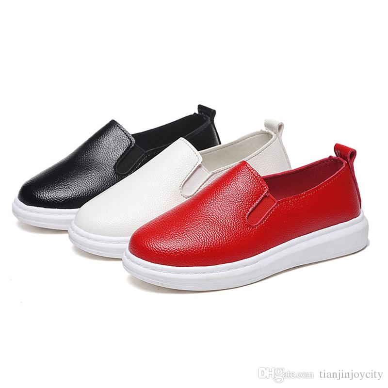 e7b1568946acc1 Kids Shoes Boys Girls PU Leather Shoes Kids Moccasin Loafers Toddlers  Casual Flats Sneakers Breathable Flat Single Sneakers Wide Kid Shoes Kids  Shoes Buy ...