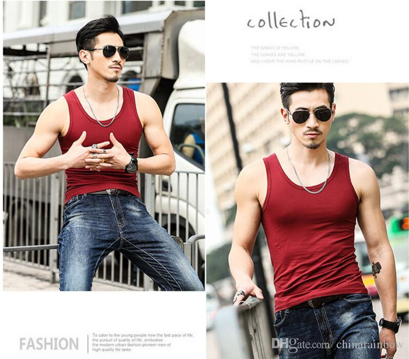 2018 New Body Engineers Brand chaleco culturismo ropa y fitness hombres camiseta Pure Color Tank tops tops golds hombres camiseta