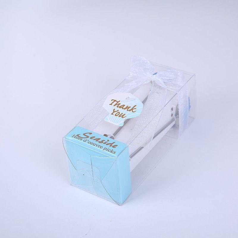 Cartoon Blue Sea Cake Fruit Fork Set Cutlery European-style Wedding Gift Party Favor