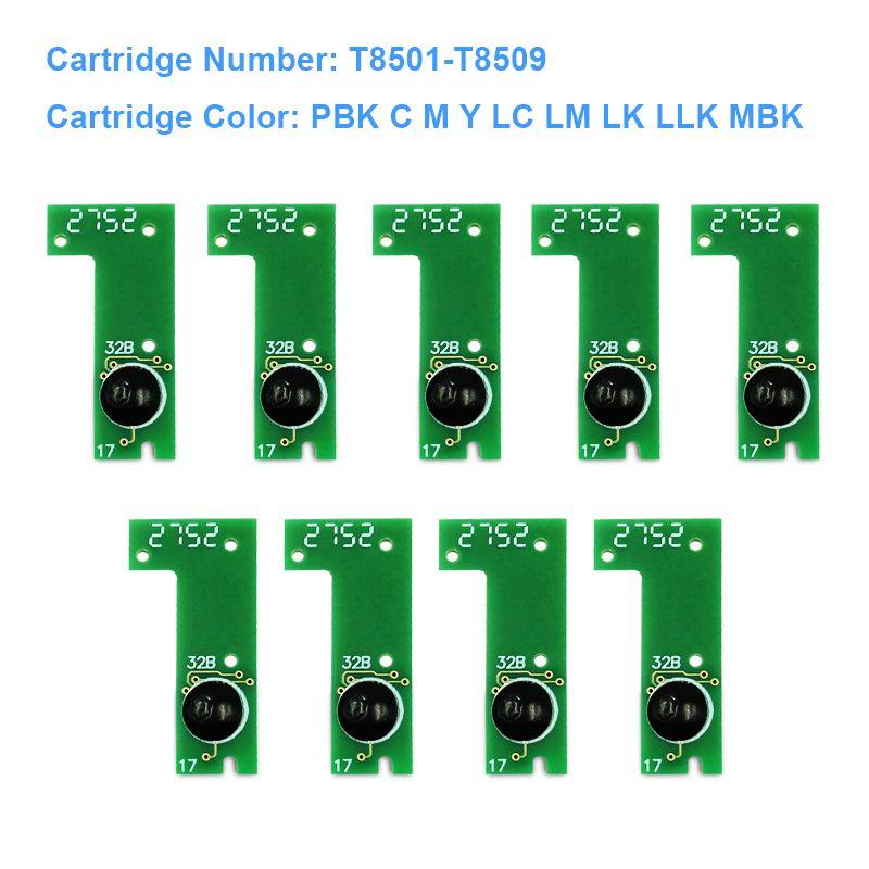 9Colors/Set T8501-T8509 T8501 Cartridge Permanent Chip ARC Chip For Epson  SureColor P800 SC-P800 Printer Ink Tank Chip