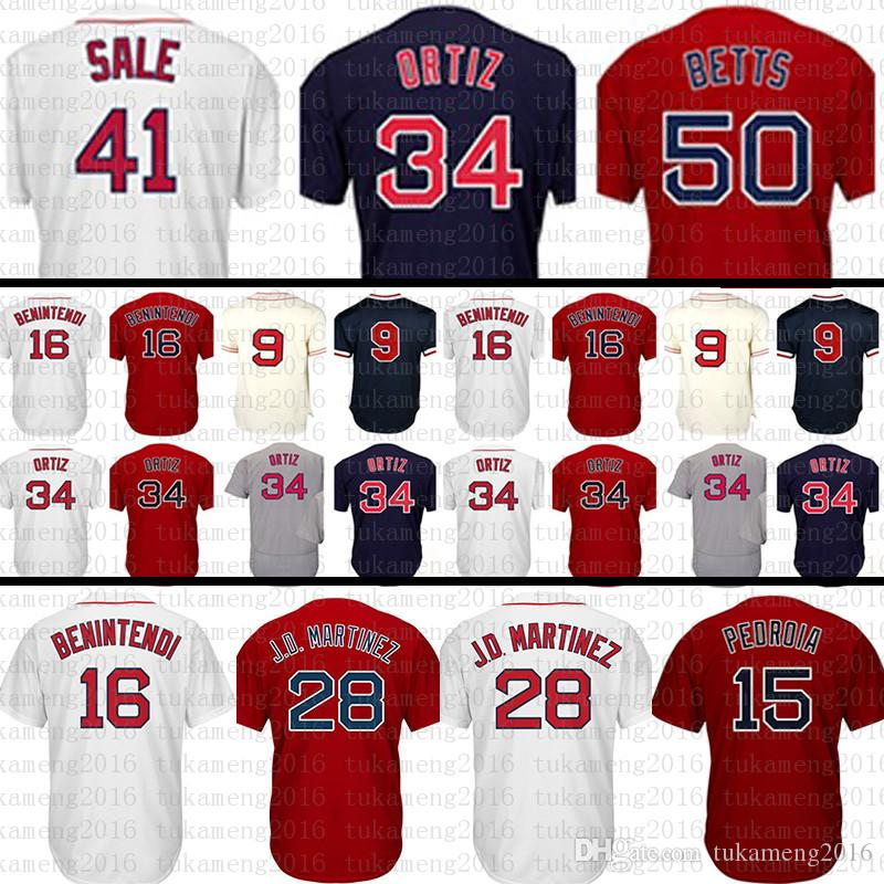 Boston Red 28 JD Martinez 34 15 Dustin Pedroia Jersey 16 Andrew ... 8f828ff9a