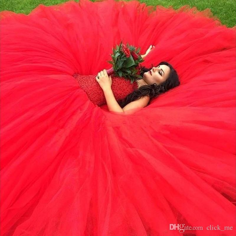Red Quinceanera Dresses With Sweetheart Beads Sequins Ball Gown Girls Graduation Dress Lace up Back Tulle Country Style Prom Gowns Vestidos