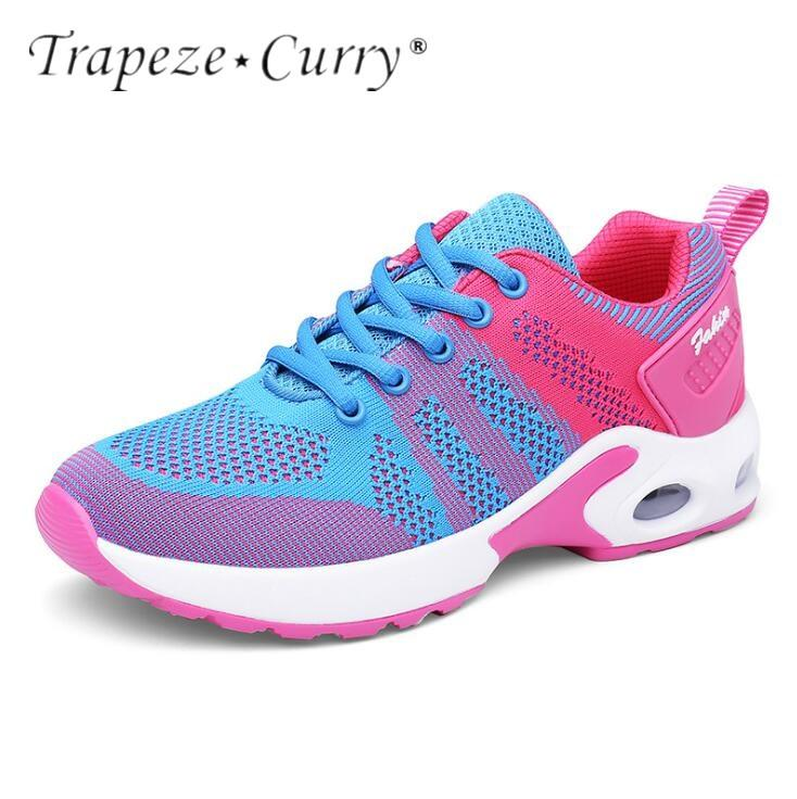 7169ecd0bd1a 2019 New Listing Hot Sale Spring And Summer Women Flying Line Breathable  Running Shoes Sneakers TA118 From Yerunku