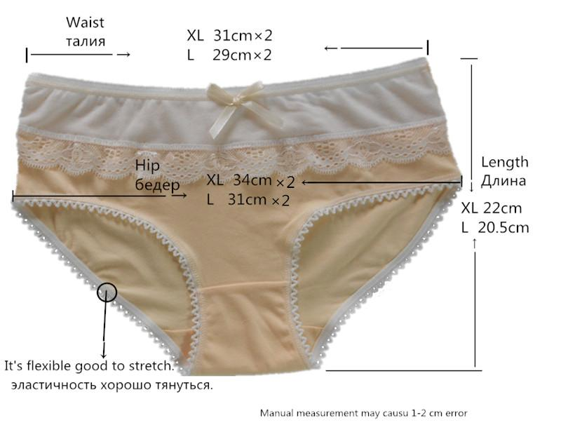 Cotton Panties Woman Sexy Ladies Underwear Fancy Lace Soft Crotch of Briefs Bow Soft Comfort Gray Pink Sky Blue Light Blue