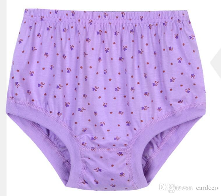 409fc5414b52 2019 The Elderly Female Cotton Underwear Mother Cotton Briefs Tall Waist  Loose Shorts Big Yards From Cardceo, $325.89 | DHgate.Com
