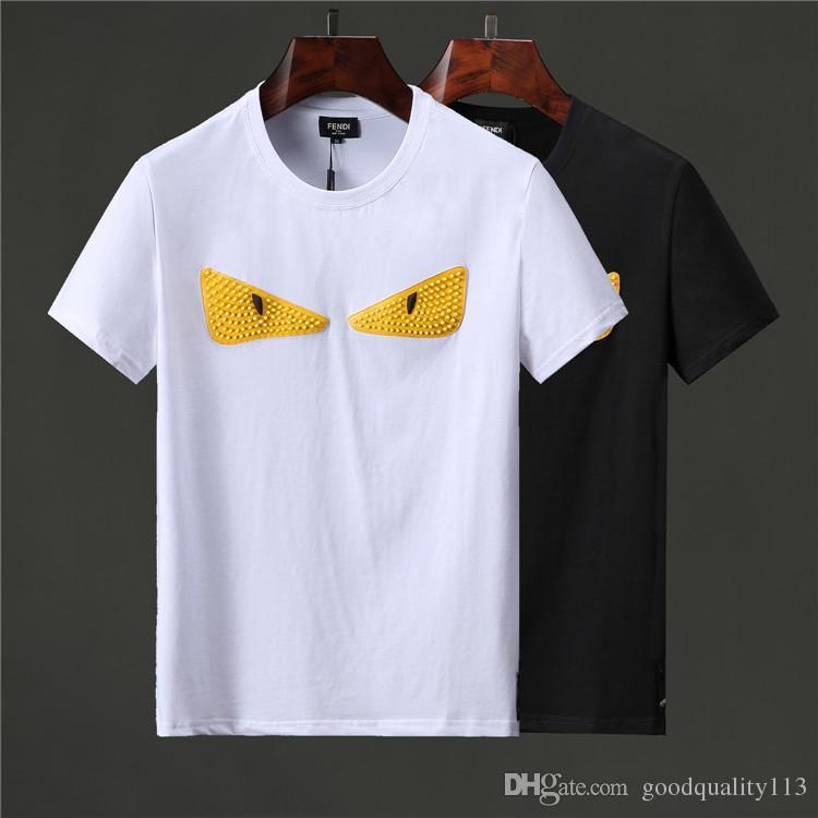 Compre Camisa De Polo A Rayas Bordada 2019 De Alta Calidad Para Hombre  Camiseta De Manga Corta De Algodón Bordada Con Pony bf584b9be96cf