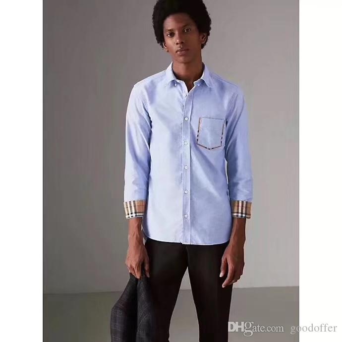 22a9c78ce 2019 CHECK DETAIL COTTON OXFORD MEN'S SHIRT IN WHITE From Goodoffer, $30.46  | DHgate.Com