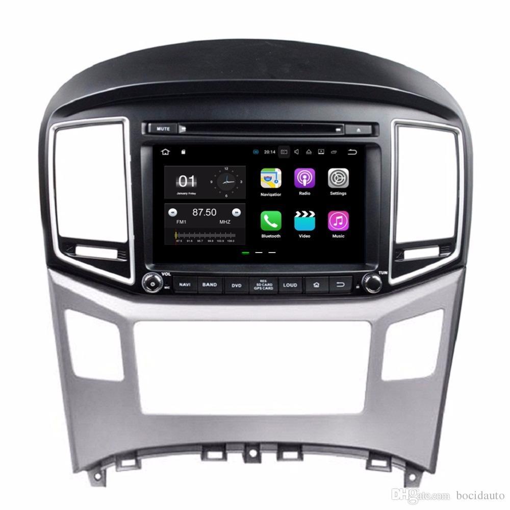 7d7daab1f Compre Android 7.1 Quad Core 2 Din 8 Rádio Do Carro Dvd Gps Multimídia  Jogador Unidade De Cabeça Do Carro Dvd Para Hyundai H1 2016 Com Bluetooth  Wi Fi ...