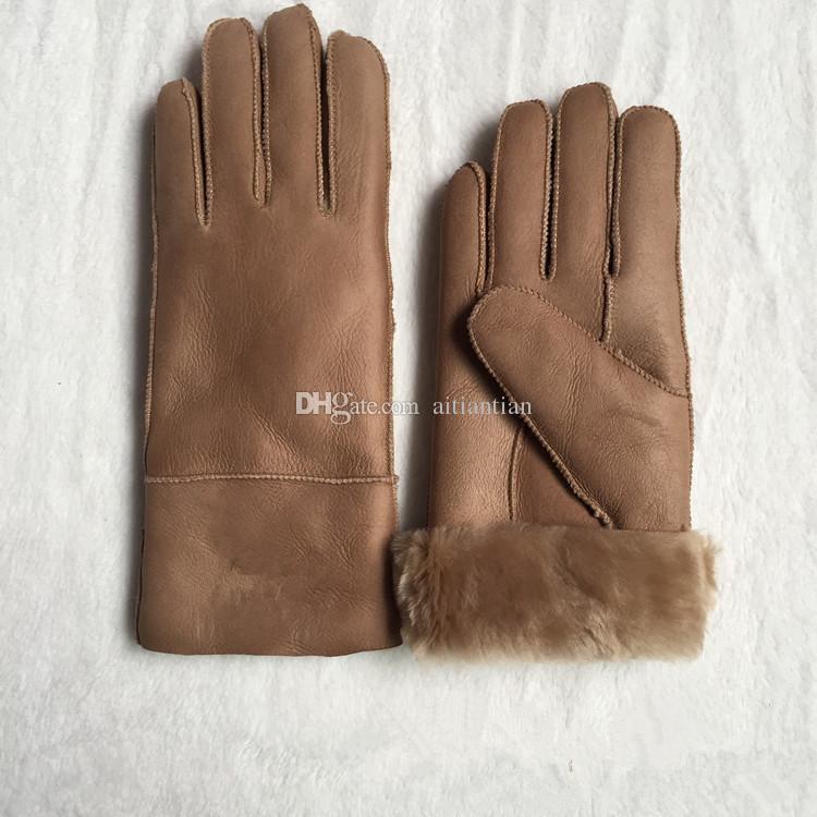 Freies Verschiffen - Qualitäts-Damen-Mode-beiläufige Lederhandschuhe Thermische Handschuhe Wollhandschuhe der Frauen in einer Vielzahl von Farben
