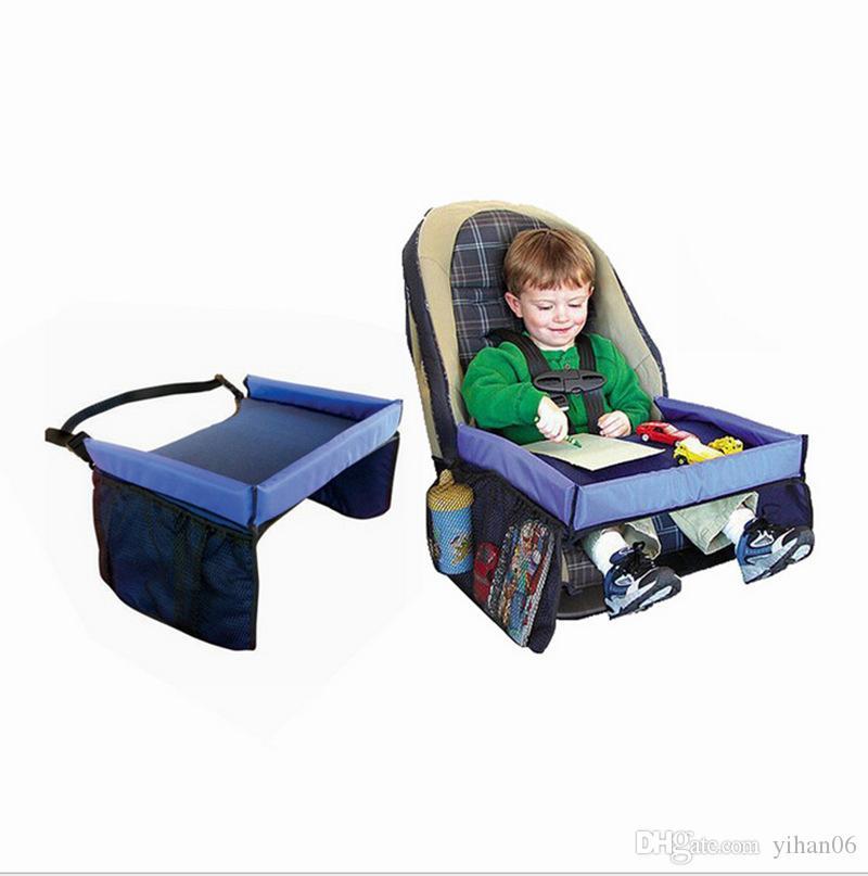 Bebek Tulumları Araba Emniyet Kemeri 5 Renk Seyahat Oyun Tepsisi su geçirmez katlanır masa Bebek Araba Koltuğu Kapağı Demeti Buggy Puset Aperatif 10 ADET