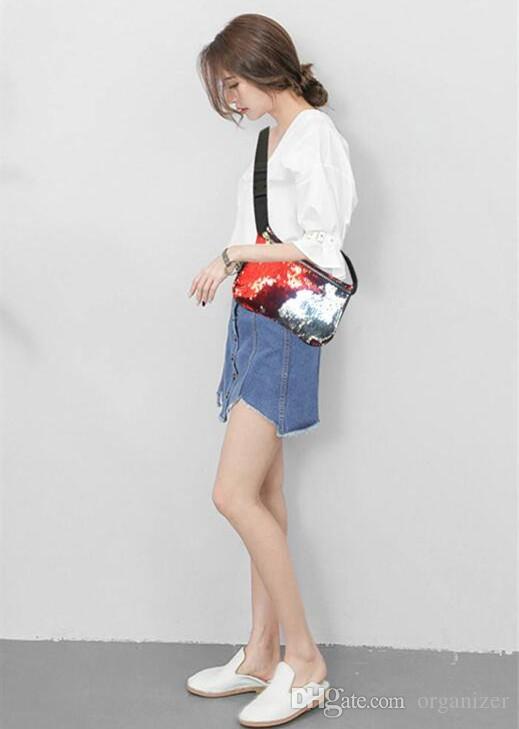 Free Design Mode Sequin Glitter Taille Fanny Pack Ceinture Sac Ceinture Poche Pochette Sirène Sac À Main Paillettes Poche Pochette Sac Pochette Sequins À La Taille