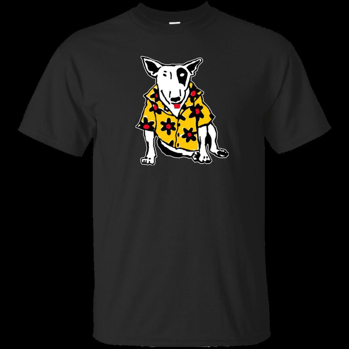 Spuds, Bull Terrier, MacKenzie, McKenzie, Retro, 1980's, Bud Light, Dog  Short Sleeves Cotton Free Shipping O-Neck Sunlight Men T-Shirt