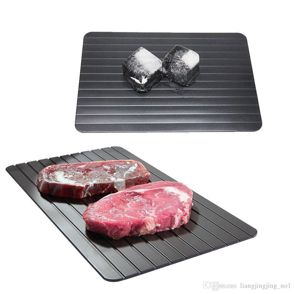 تذويب سريع صينية ذوبان لوحة المطبخ أسلم طريقة لإزالة الصقيع اللحوم المجمدة الغذاء المعادن الألومنيوم حصيرة أدوات المطبخ AAA152