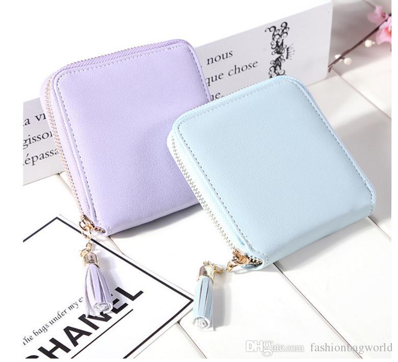 2018 fashion Best Selling! Genuine Leather Women Short Wallet Zipper Purse Short Handbag For Girl Lady Nice Gift Money Bag