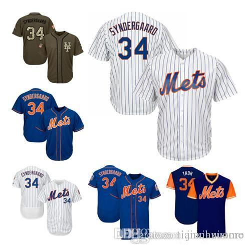 premium selection af9dd c35a5 2019 hot sale Men Women Youth Mets Jerseys #34 Player White Blue Green  Salute to Service Players Weekend All Star