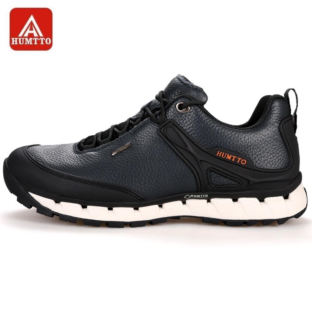 29df8db19058f HUMTTO Hombres Zapatos Para Caminar Deportes Al Aire Libre De Invierno Zapatos  Para Acampar Antideslizantes Zapatillas De Deporte De Cuero Transpirables  ...