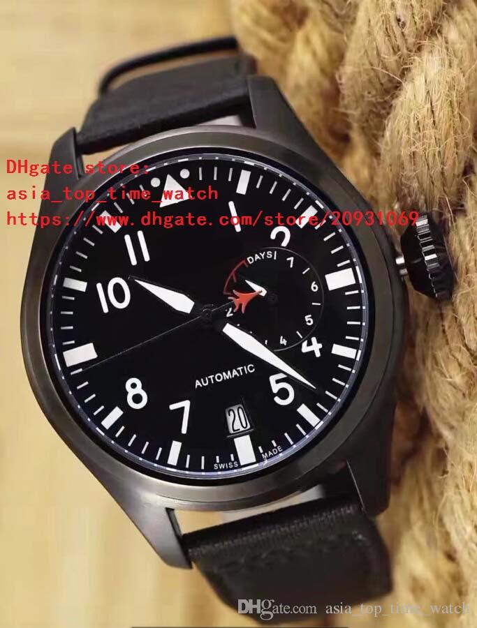 2 color latest version big pilot IW 500435 IW500435 black 44mm dial white digital High quality automatic mechanical men's watch