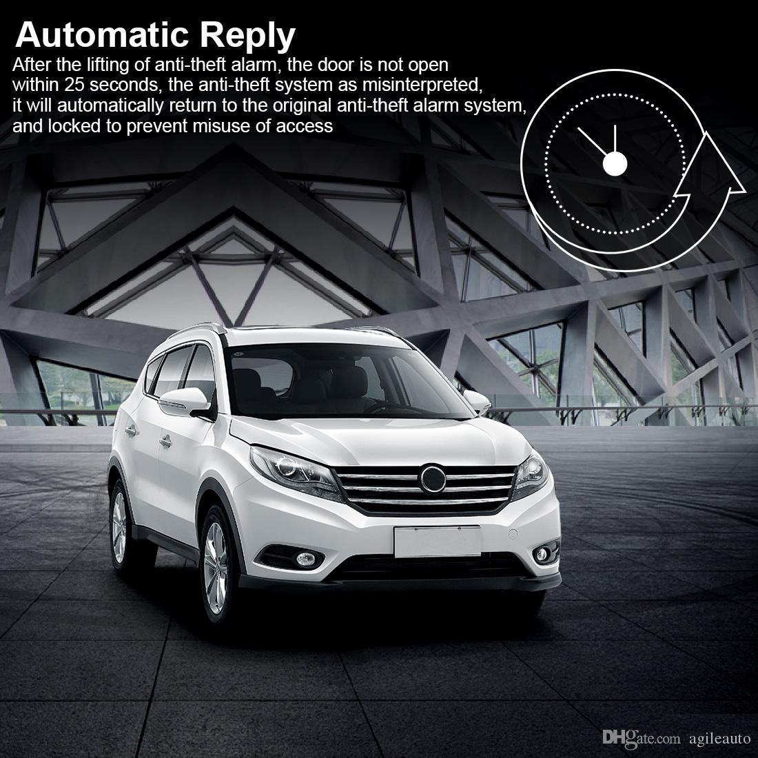 Sistema di allarme universale auto Sistema di arresto di avviamento a distanza con motore con blocco centrale automatico e accesso senza chiave CAL_10H