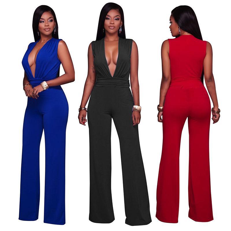 Acquista Tute Estive Donna Tuta Lunga Elegante Scollo A V Sexy Tute Donna  Party Clubwear Off The Shoulder Body Clothing A  39.63 Dal Cutelove66  324eb5c4064