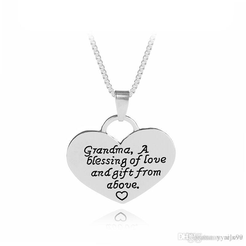 Wholesale 2018 family member necklace grandma heart pendants letter wholesale 2018 family member necklace grandma heart pendants letter necklace charms women jewelry maxi statement necklace hot sale ruby pendant necklace aloadofball Image collections