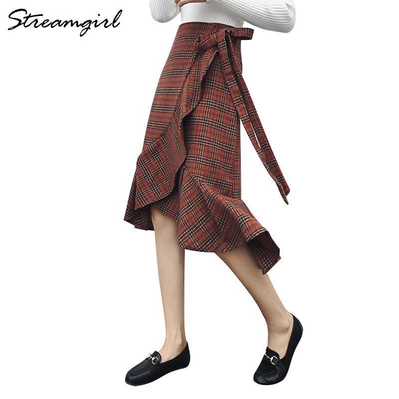 Plissée Jupe Jupe Écossaise Femme Écossaise Genou Genou Plissée Femme Plissée Jupe L5A4j3Rq