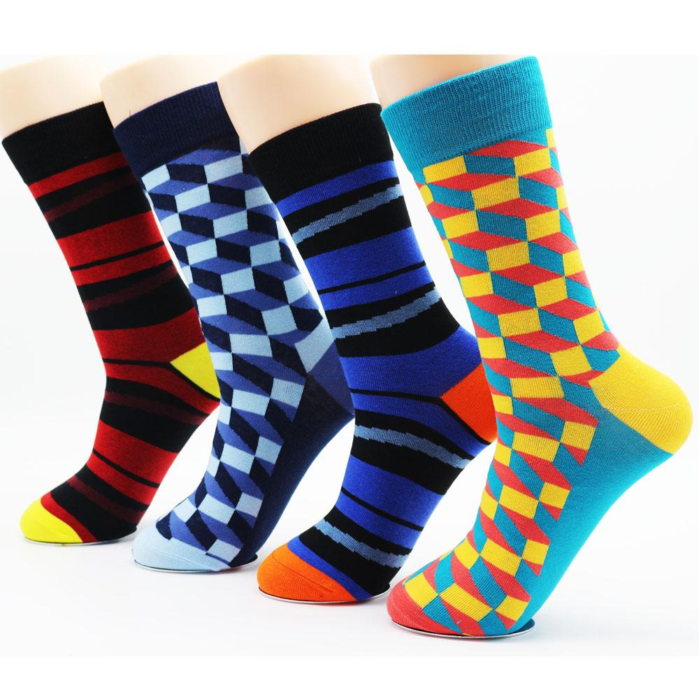 3138d94a6f07 New Winter Men's Funky Cotton Stripe Colorful Socks High Quality ...