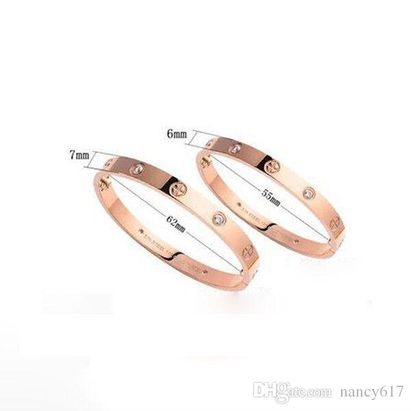 Classic Fashion 316L stainless steel bracelet bangle with screw driver Titanium Steel Love Bracelets for men and women Couple Jewelry