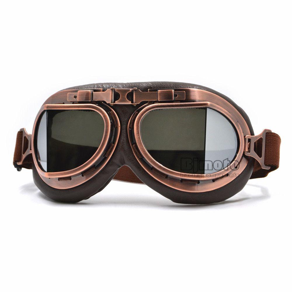 c7652a5c03 Harley Style Motorcycle Goggles Pilot Motorbike Goggles Leather Jet Helmet  Eyewear Ski Goggle ATV Off Road Sunglasses Motorcycle Prescription Eyewear  ...