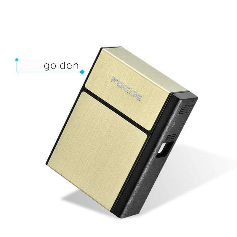 New Hot FOCUS Cigarette Case Box Lighter With Flameless Removable Personality Creative USB Lighter Torch Lighter Cigarette Holder Case