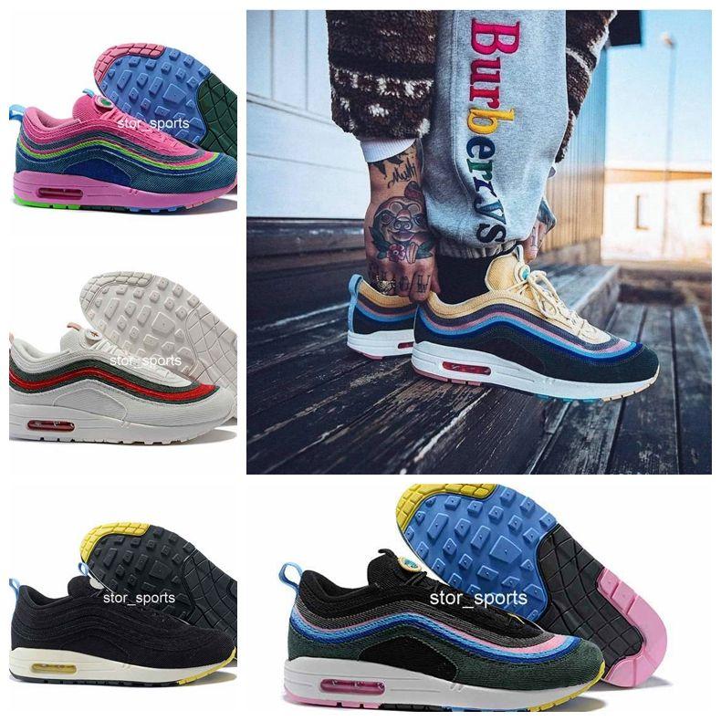 chaussures nike air max 197 97 Sean Wotherspoon VF SW hybride Meilleure qualité Chaussures de course avec boîte 97 Chaussures Hommes Femmes livraison