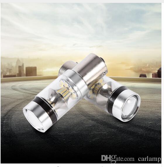 1156/1157 100 W 20LED LED Yedekleme Işık Araba Ters Ampul Lamba Soğuk Beyaz Otomobiller Araba Styling