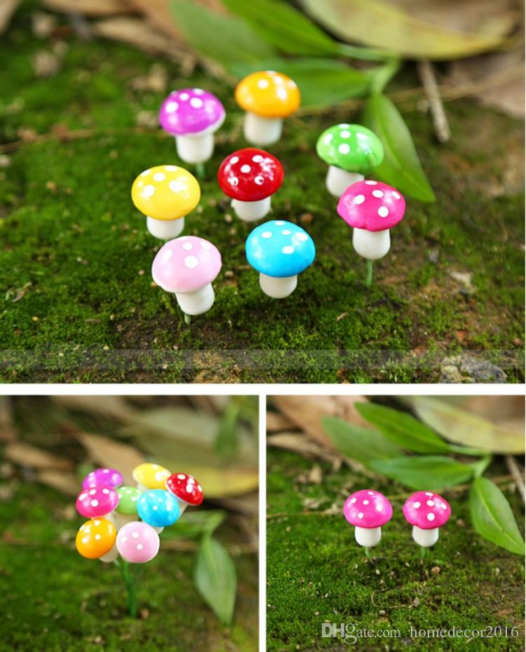 colorful mini mushroom fairy garden miniaturesjpg - Fairy Garden Miniatures