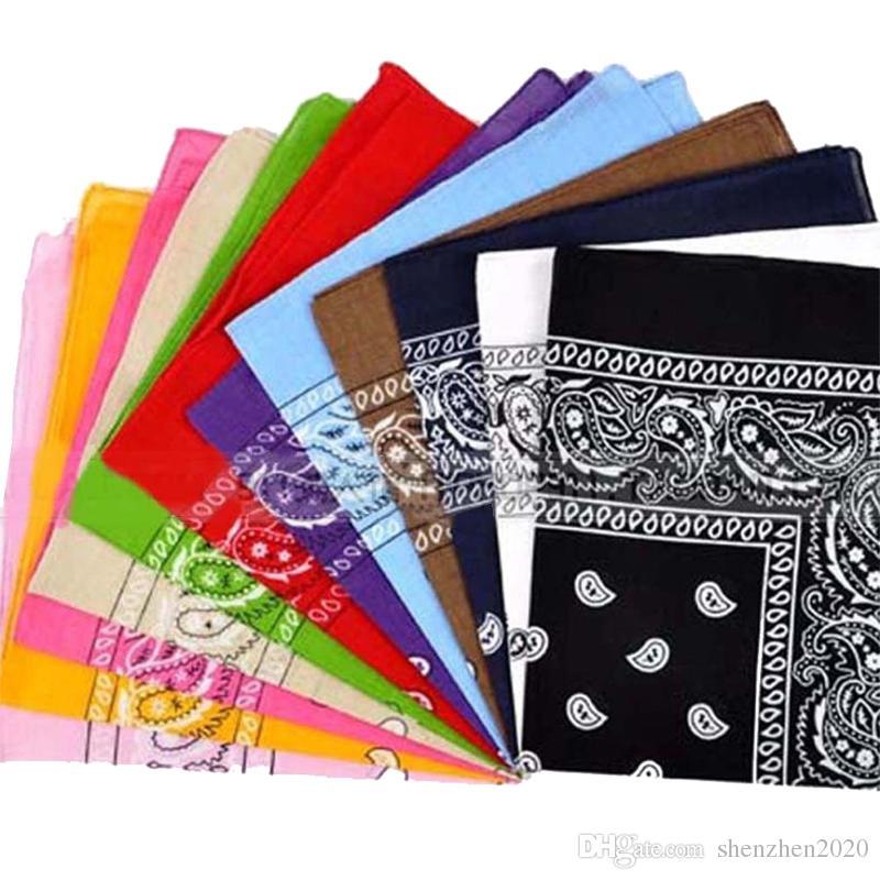 Moda diseño de Paisley Elegante Paseo mágico Anti-UV Bandana pañuelo de la venda Hip-hop Multifuncional Bandana bufanda principal al aire libre